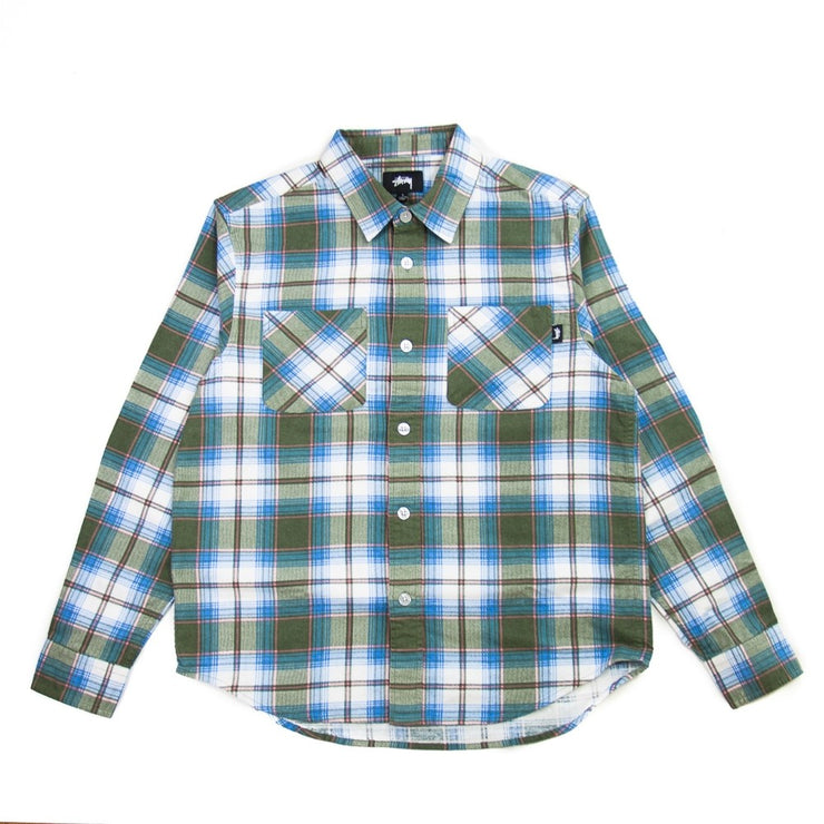 Adam Plaid Shirt (Olive)