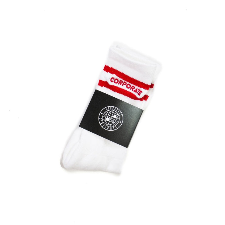 Standard Sock (White/Red)