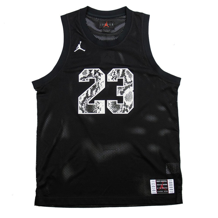 Legacy AJ11 Snakeskin Jersey (Black/Light Bone)