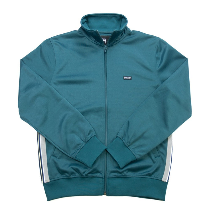Textured Rib Track Jacket (Dark Teal)