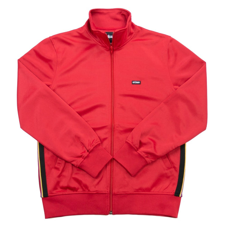 Textured Rib Track Jacket (Red)