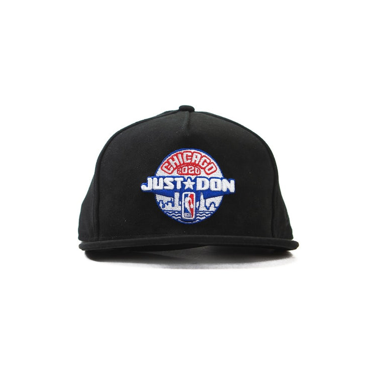 Just Don x ASW Snapback (Black Suede)