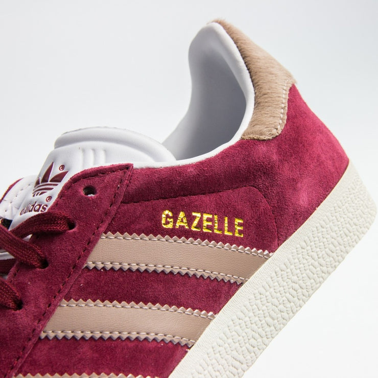 Gazelle W (Burgundy/Vapor Grey/White)