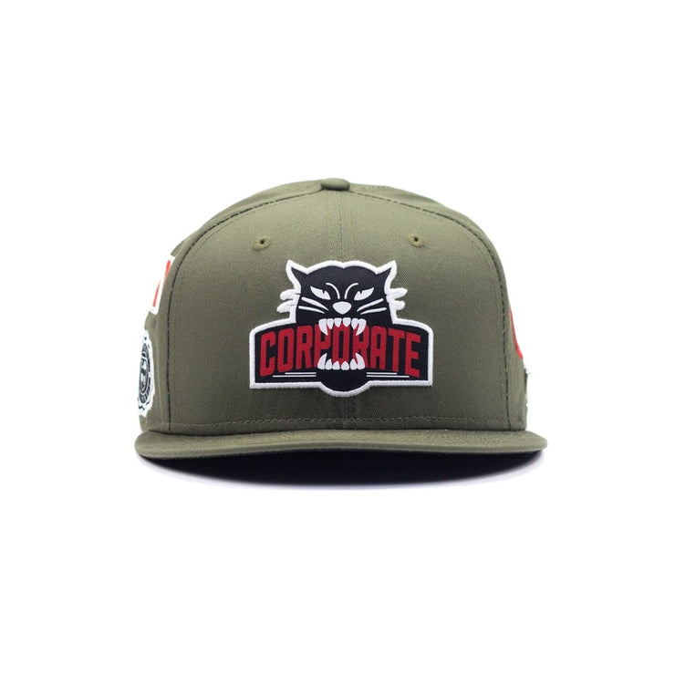 Seek All Over New Era Snapback (Olive)