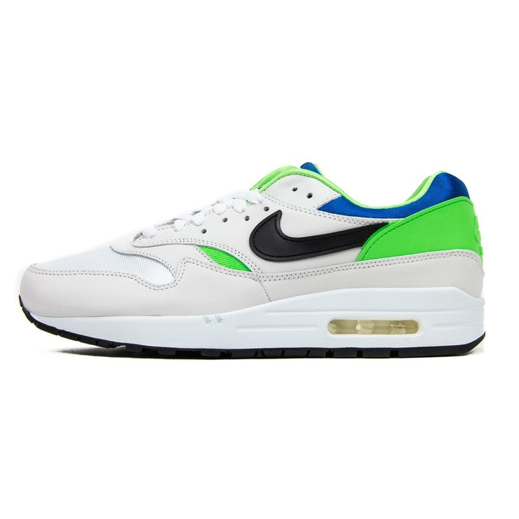 Air Max 1 DNA Ch. 1 (White/Black/Royal Blue/Scream Green)