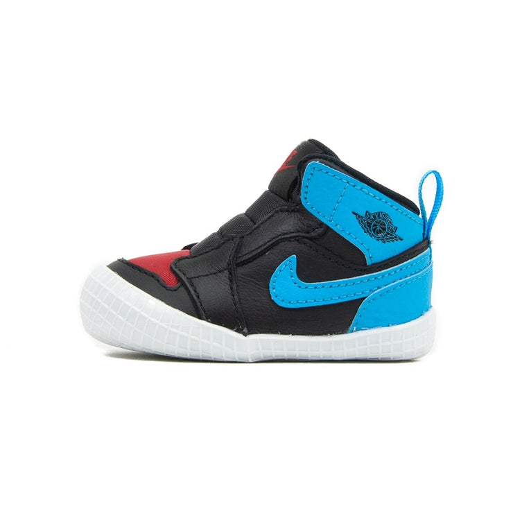 Jordan 1 Crib Bootie (Blk/DK Powder Blue/Gym Red/Wht)