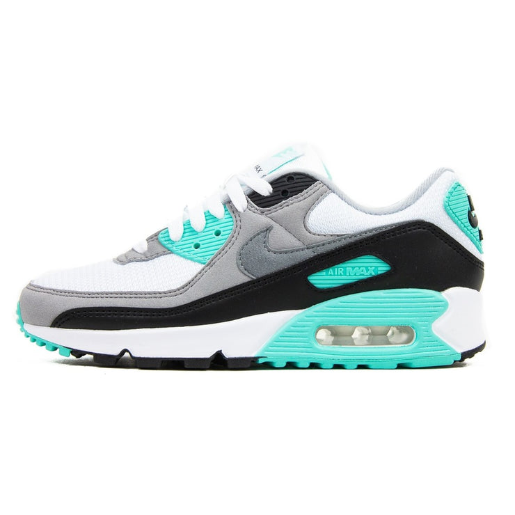 W Air Max 90 (White/Hyper Turquoise)