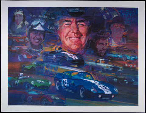 Carroll Shelby litho