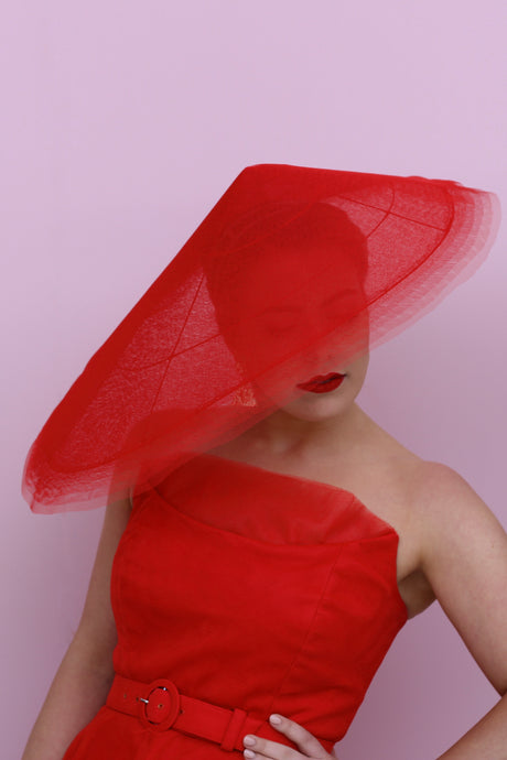 Red Tulle Mayfair for Myer Millinery Award 2019