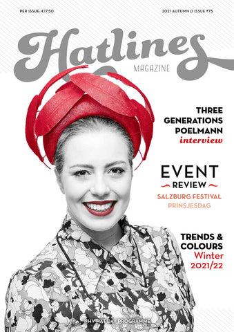 Hatlines Issue 75 - Lauren J Ritchie Millinery cover - red feather headpiece
