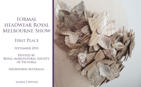 Royal Melbourne Show Formal Headwear Winner 2018 - Awards and Competition - Lauren J Ritchie