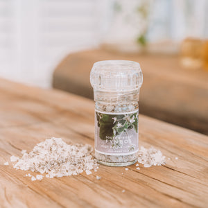 Coarse Salt Grinder - Mint pelargonium