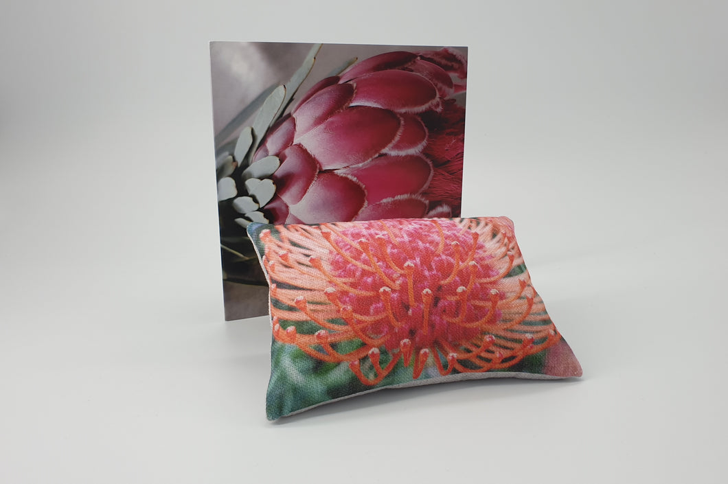 FGB-01 Gift Box - Luxury Needlework Pincushion and Protea Greeting Card
