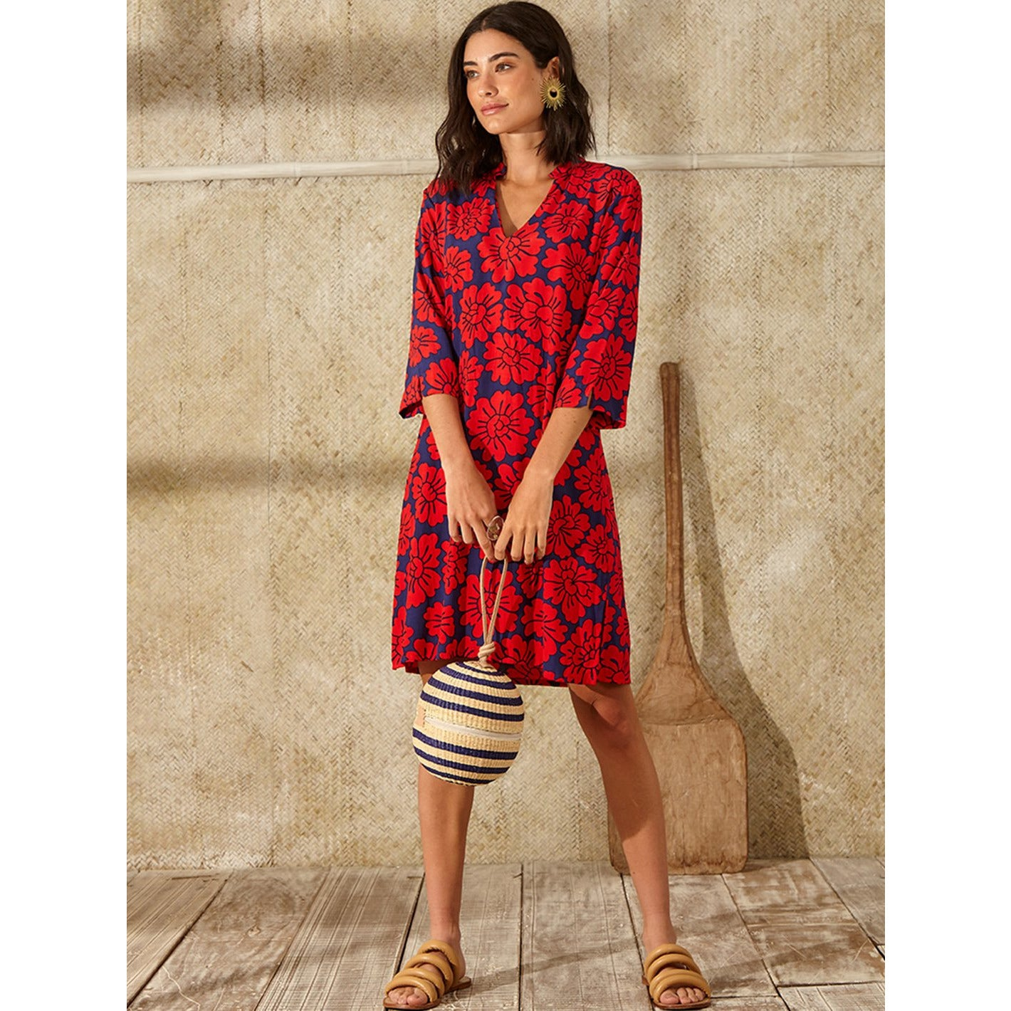 Totem Hilo Dress in Mahalo Red