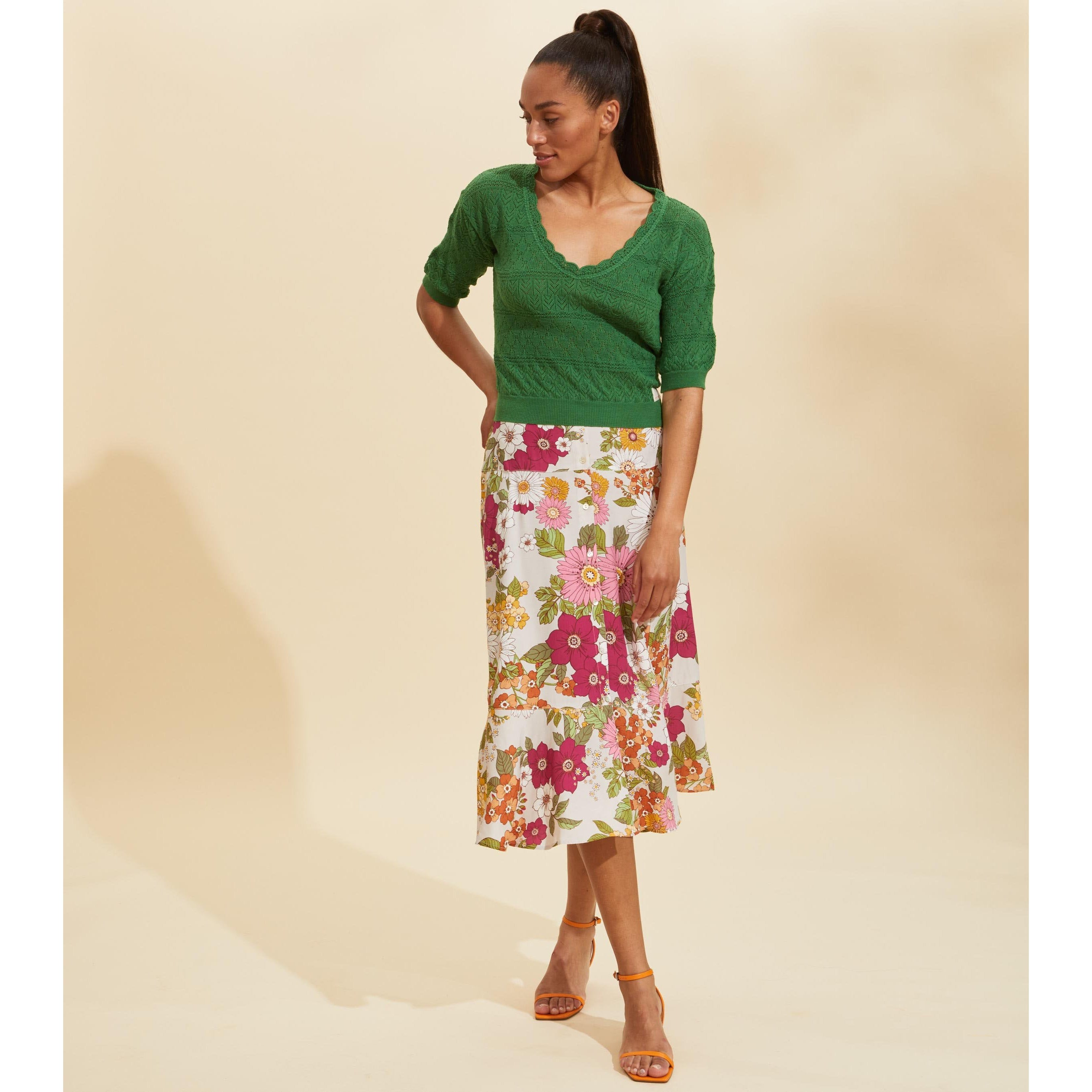 Odd Molly Run with the Sun Cactus Flower Skirt