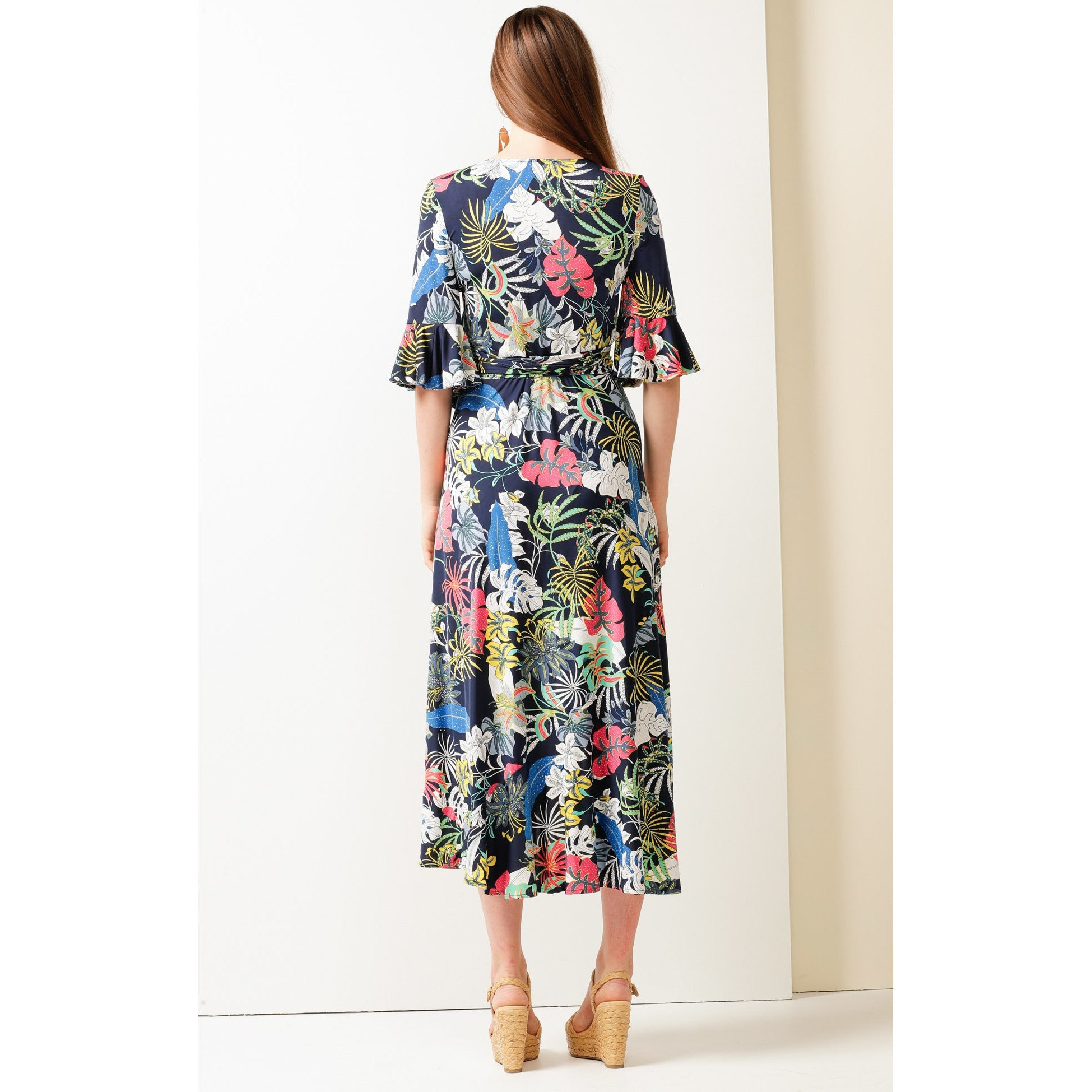 Sacha Drake Bahamas Dress (Navy Floral)