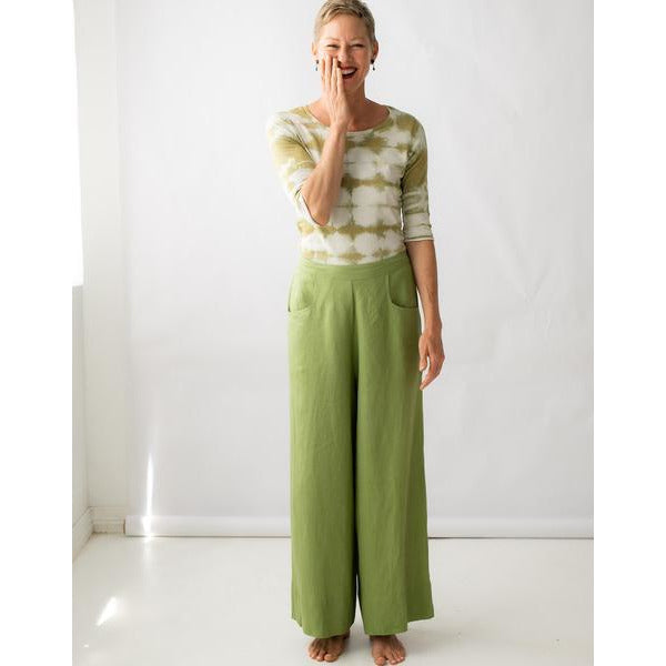 Lazybones Ollie Linen Pant Lime