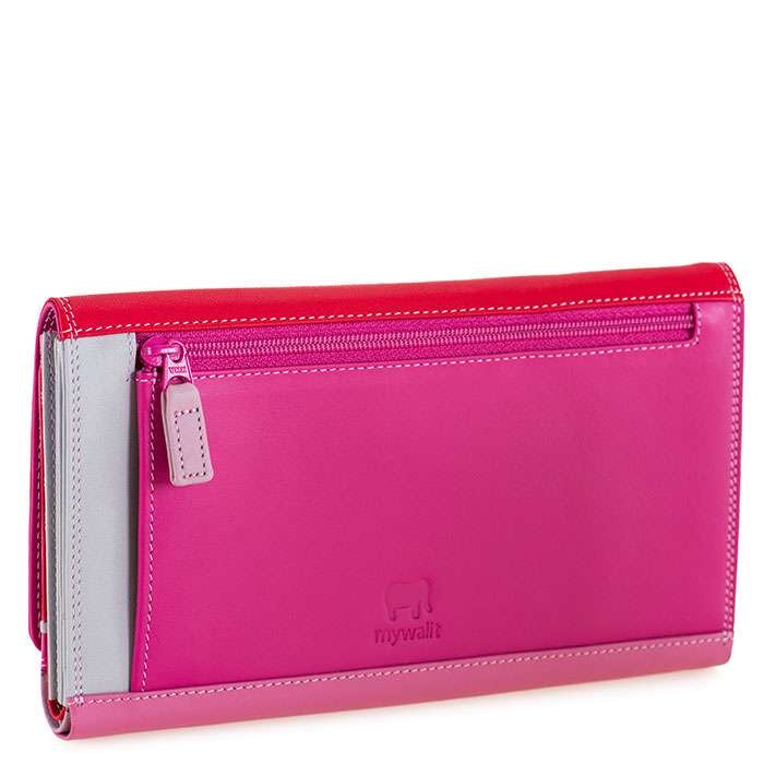 Mywalit Large flap over with phone slip pocket and back zip Ruby Rose