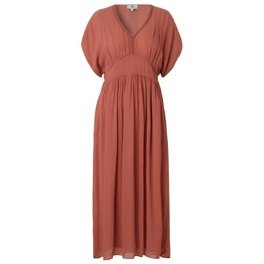 Noa Noa Cedarwood V neck drape dress