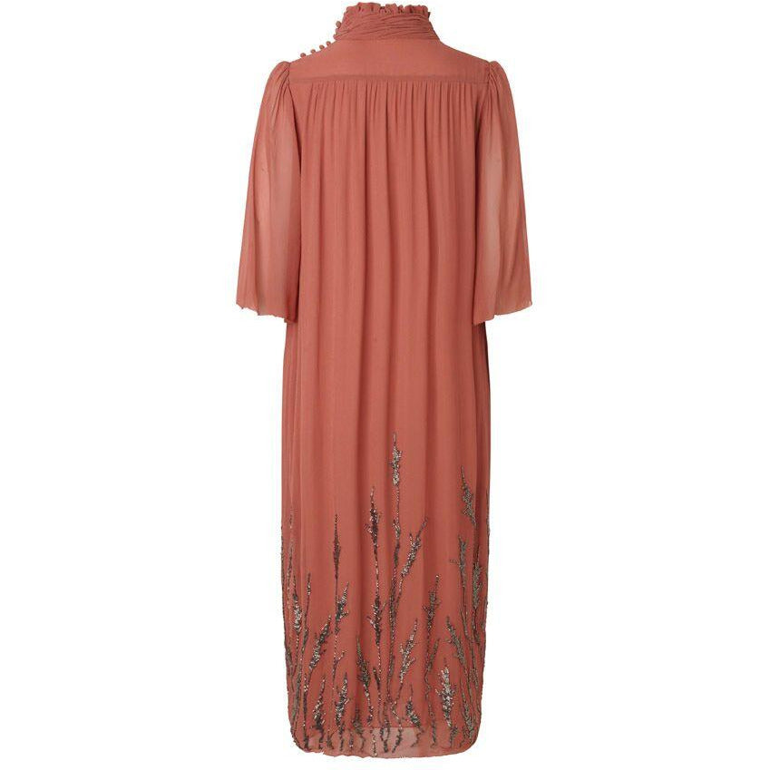 Noa Noa Beaded Cedarwood Dress