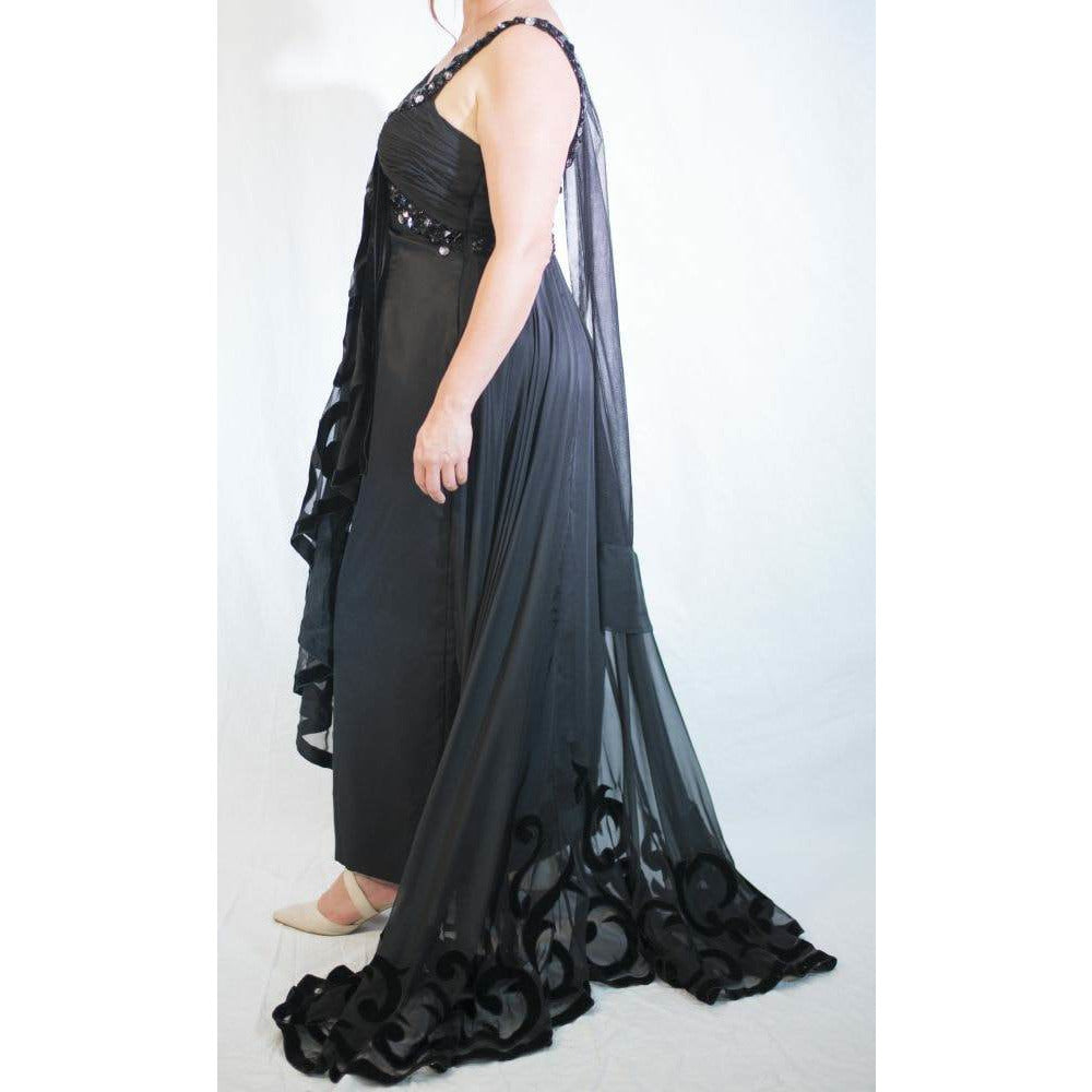 STUDI BAKER Black embelished Gown 0841 size 12 & 16