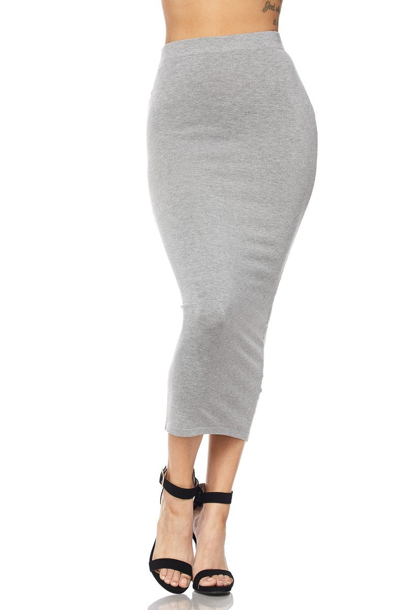 The Grey Basic Midi Skirt