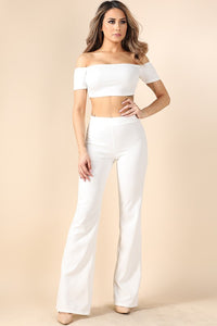 The White Pant Two Piece Set