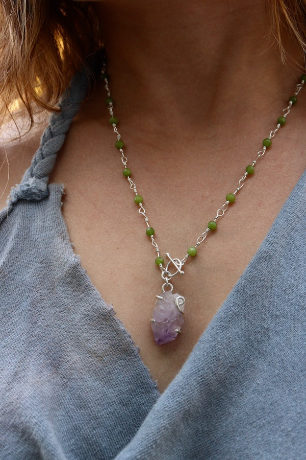 Amethyst and Herkimer Necklaces (3)