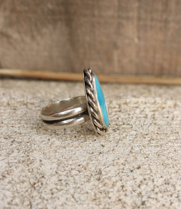 Turquoise Drop Ring~ US Size 6