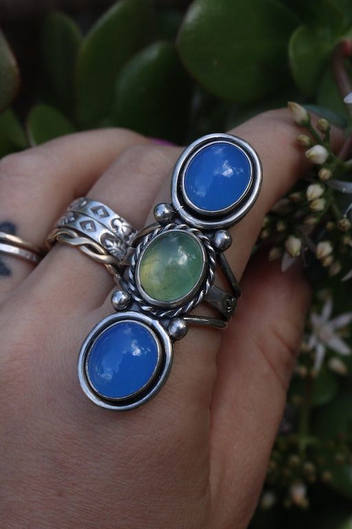Triple stone ring Size 7.5