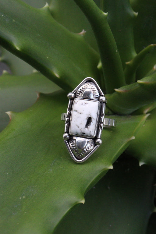 White Buffalo Ring Size- 8
