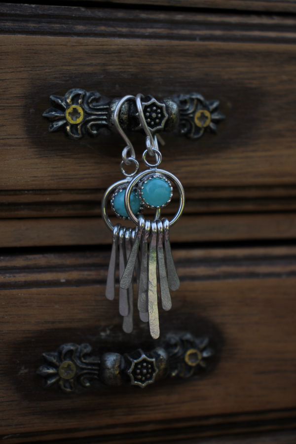Amazonite Earrings (3 pare available )