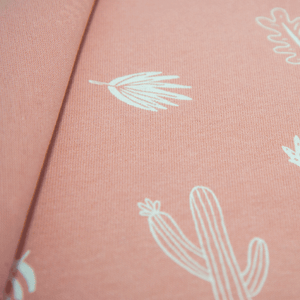Single jersey fabric with cactus