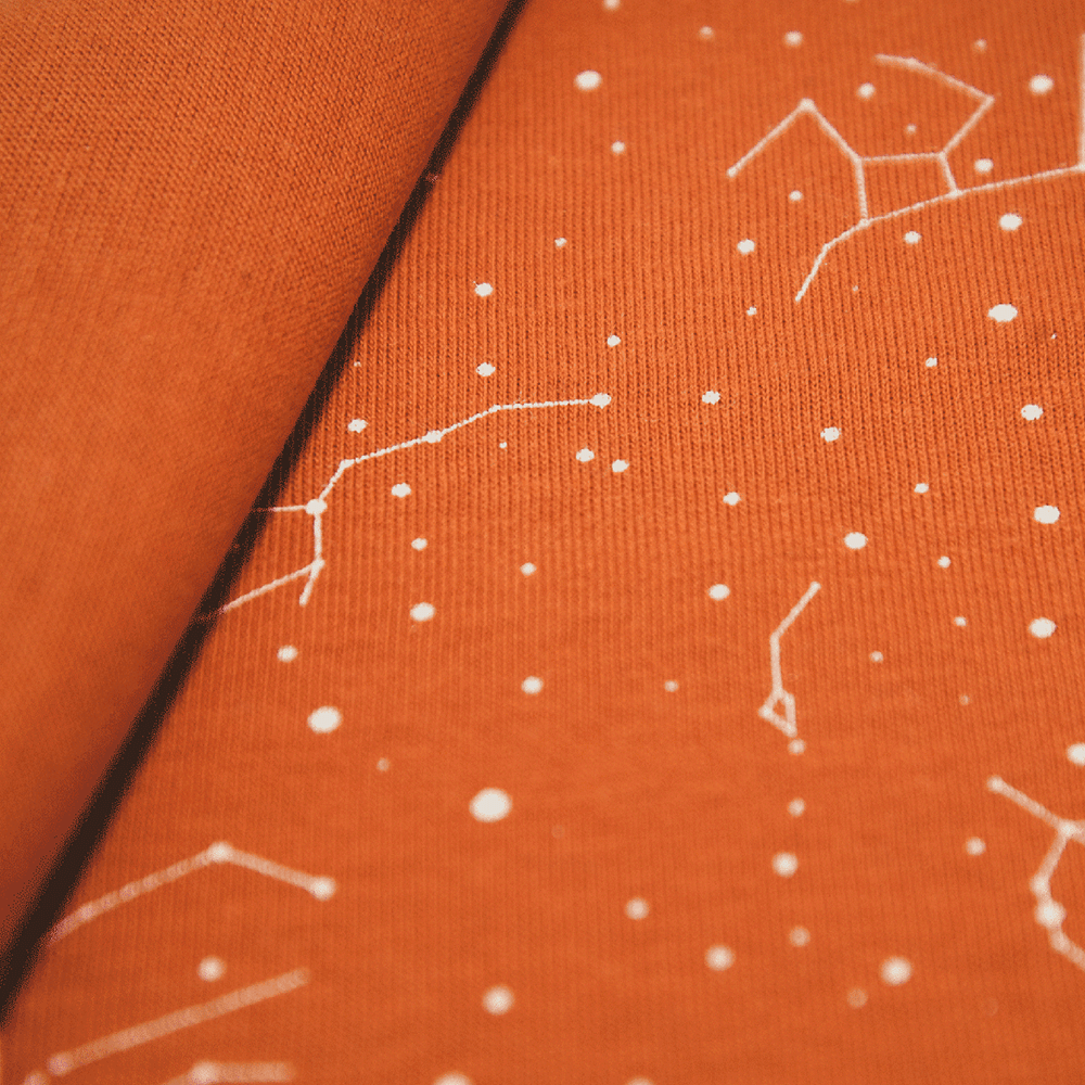 Single jersey fabric with stars