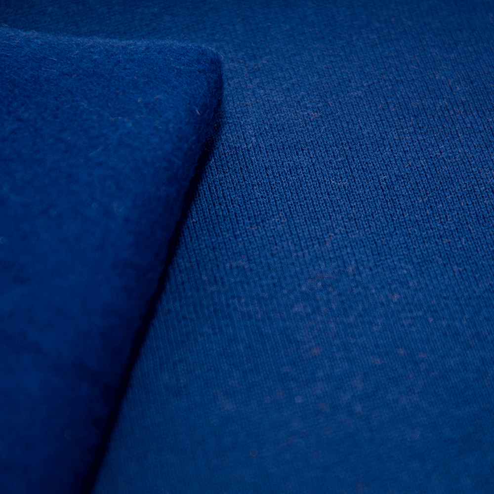 Navy blue sweat jersey fabric