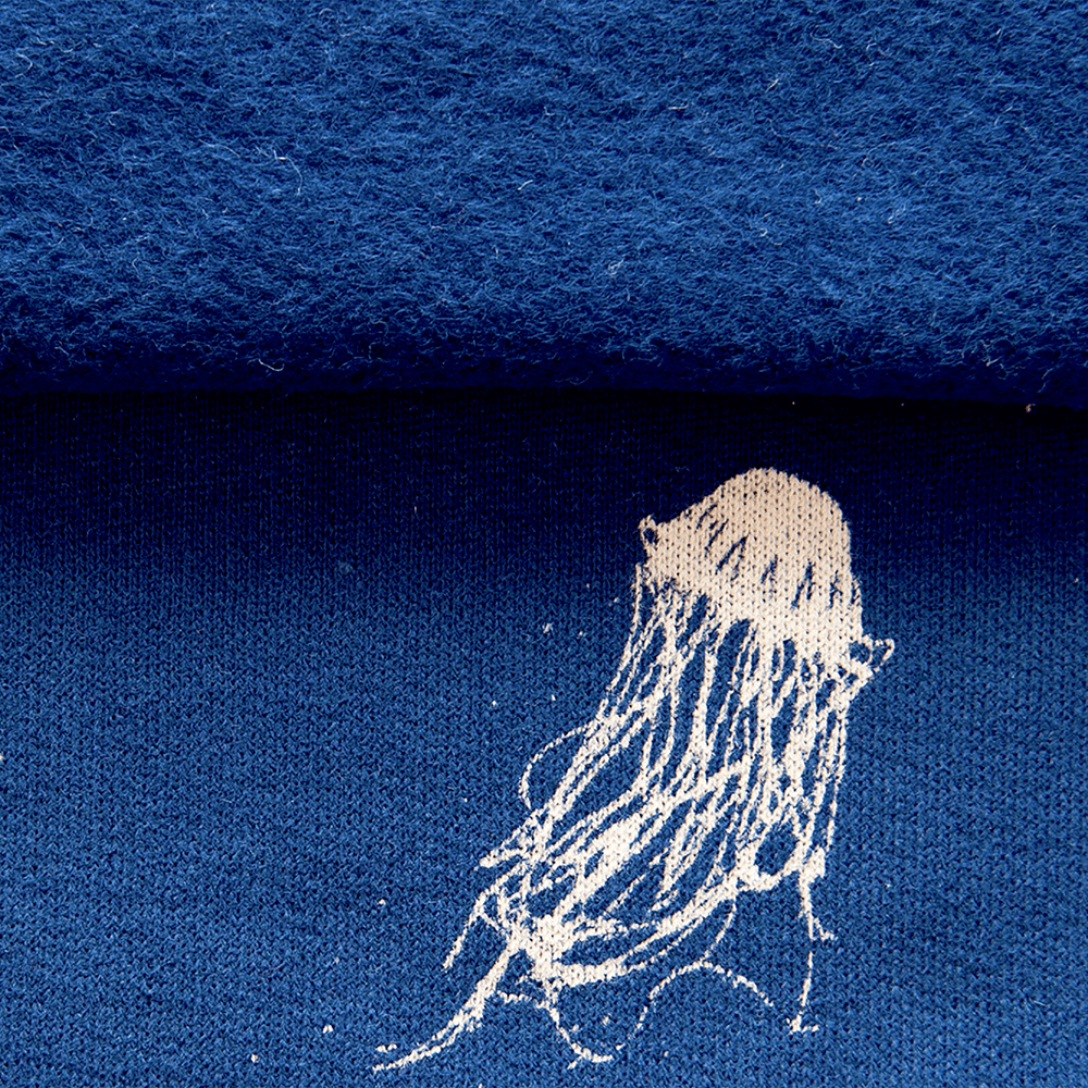 Sweat jersey fabric with jellyfish