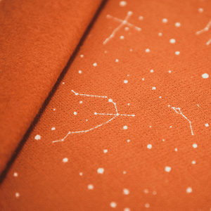 Sweat jersey fabric with stars