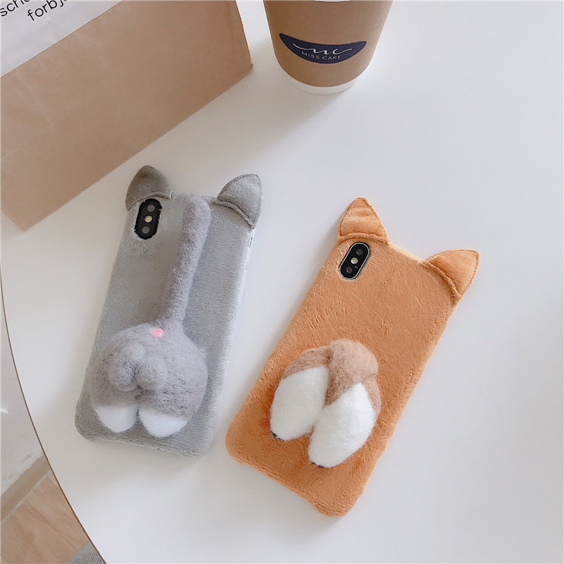 Corgi Butt and Pussycat Butt Cell Phone Case
