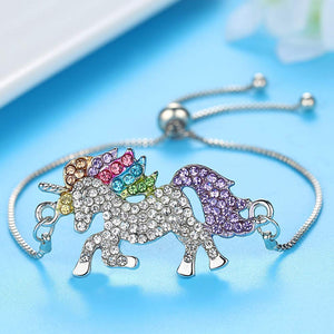 UNICORN SILVER RAINBOW JEWELRY SET