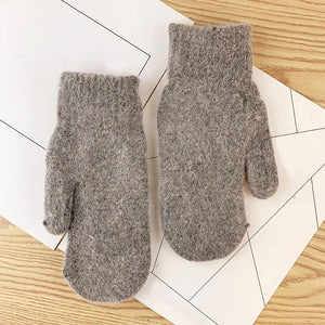 Double Layer Wool Winter Gloves