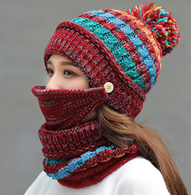 Load image into Gallery viewer, 3PCS Womens Winter Scarf Set