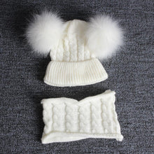 Load image into Gallery viewer, Winer Fashion Cute Winter Pompom Beanie And Scarf For Kids - Cute Winter Pompom Beanie And Scarf For Kids