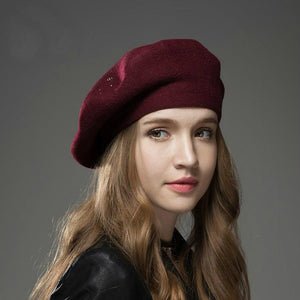 Thick Studded Winter Hat Beret-Boots N Bags Heaven
