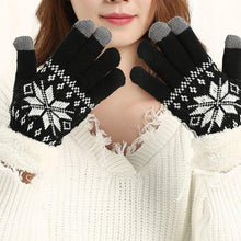 Load image into Gallery viewer, Winter Fashion Snowflake Thick Cashmere Two-layered Winter Gloves - Snowflake Thick Cashmere Two-layered Winter Gloves