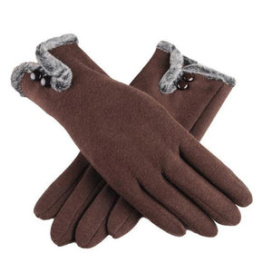 Chic and Fashionable Cashmere Winter Gloves-Boots N Bags Heaven