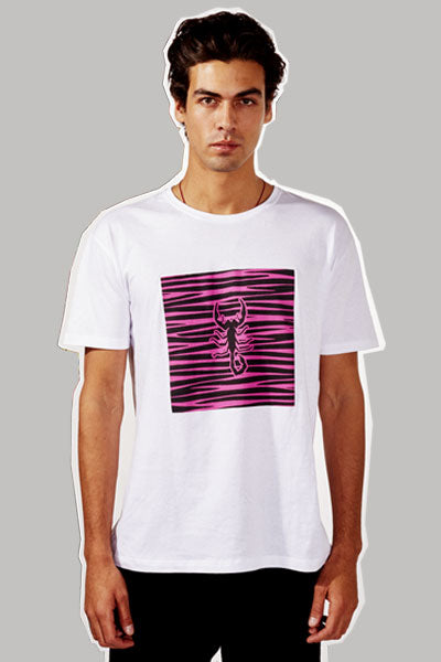 Cotton Alacran Zebra Pink T-Shirt