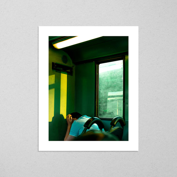 Untitled (Bus Éireann), vibrant and cinematic street photography fine art giclée print on Hahnemühle Pearl paper by Adrian Wojtas