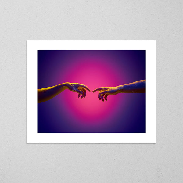 Soon Every Touch Will Be Divine, colourful and conceptual photography fine art giclée print on Hahnemühle Pearl paper by Adrian Wojtas