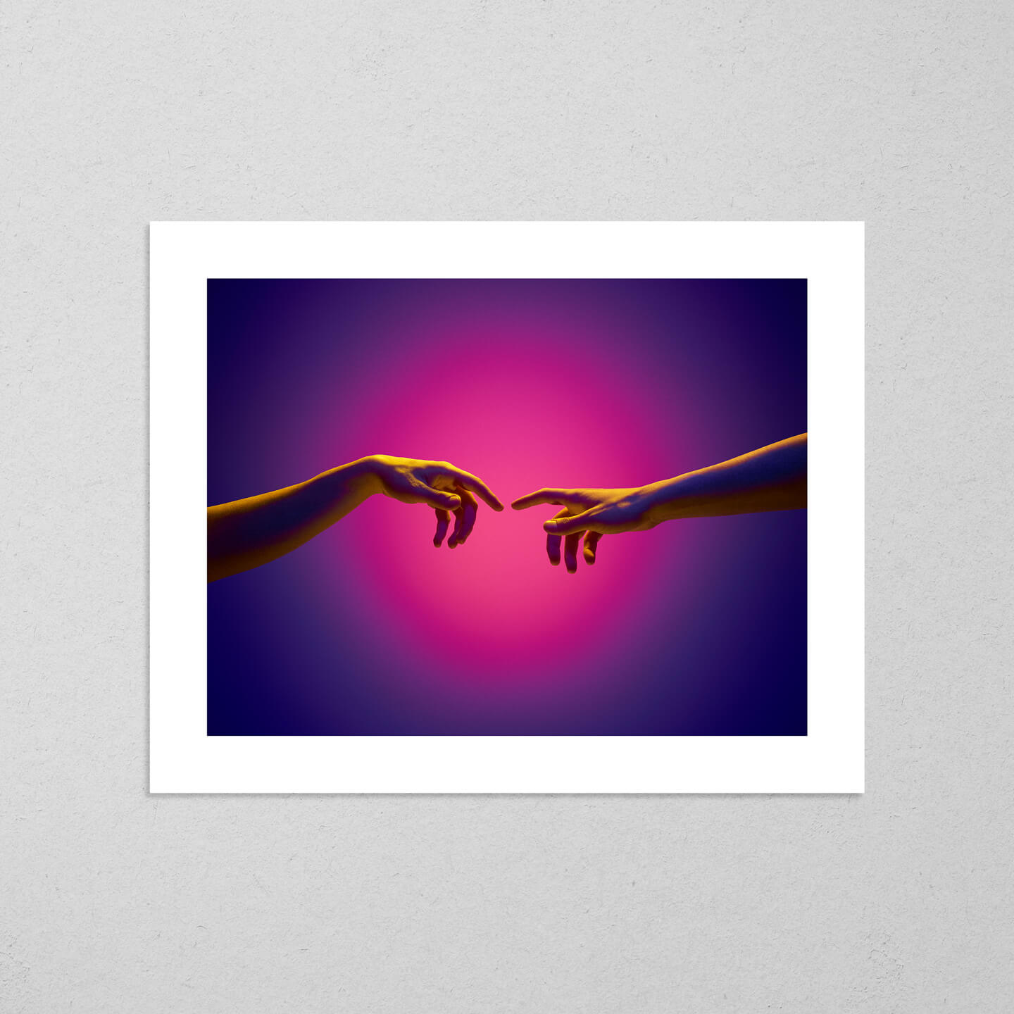 Soon Every Touch Will Be Divine (Alternate), colourful and conceptual photography fine art giclée print on Hahnemühle Pearl paper by Adrian Wojtas