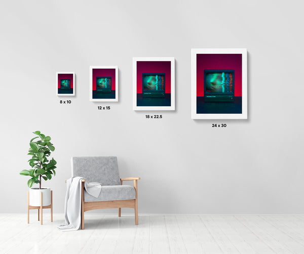 Artwork size comparison chart for inside., moody and cinematic photography fine art giclée print on Hahnemühle Pearl paper by Adrian Wojtas